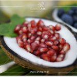 Owoce granatu w kokosie