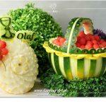 Koszyk z arbuza na komunię