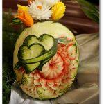 Grafika serc na arbuzie