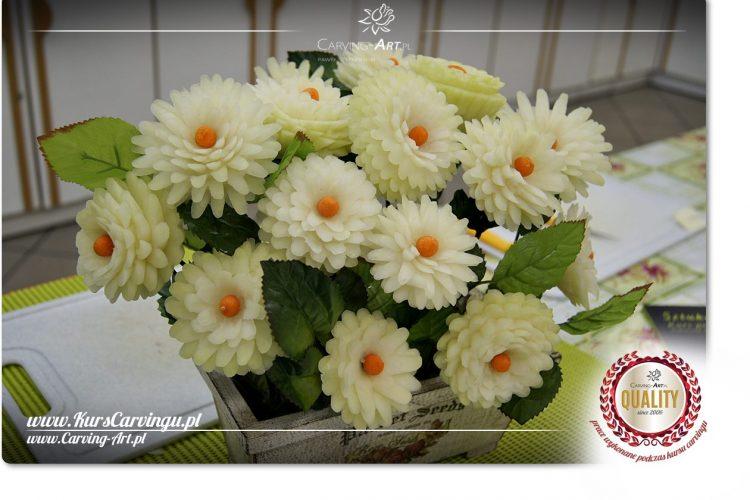 Kwiaty z warzyw