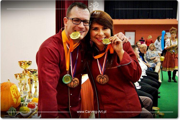 Złoci medaliści Dyniowego Sampionatu 2015 – Paweł Sztenderski, Dominika Sadowska