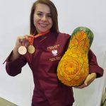 Dominika Sadowska ze złotym medalem za Live Carving